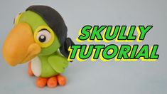 how to make parrot SKULLY jake and the never land pirates cake tutorial ...
