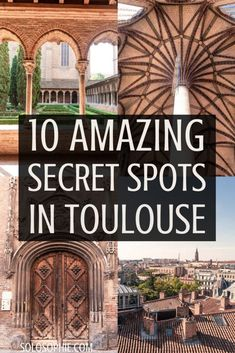 Secret Spots in Toulouse & A Complete Guide to the best of unusual offbeat and quirky things to do in La Ville Rose (the pink city) capital of Occitanie Toulouse South West France Europe Travel Tips, European Travel, Travel Guides, Travel Destinations, Travelling Europe, Travel List, Weekend France, Ville Rose, Road Trip