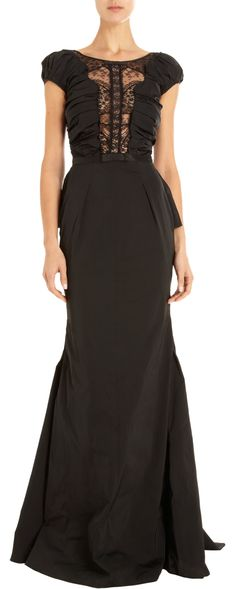 Nina Ricci Lace Inset Gown