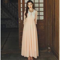 New Arrival Summer Slim Elegant Long Sleeve Expansion Floor Length Dress  ( 17.50) http  ee68b88f7468