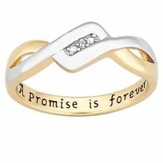 18k Gold over Sterling Silver 'A Promise is Forever' Diamond Ring - Free Shipping Today - Overstock.com - 14518071 - Mobile