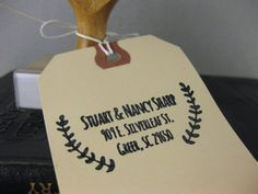 Custom Return Address Stamp - Branches | $35 | Tin Oiseau | Use the code PIN10 to get 10% off!