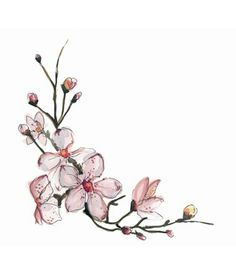 This would be cute as wrist tattoo, cherry blossoms. Body Art Tattoos, New Tattoos, Tatoos, Pink Tattoos, Circle Tattoos, Quote Tattoos, Tatto Floral, Trendy Tattoos, Small Tattoos