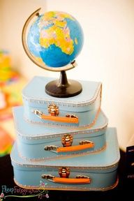 """Adorable! Exactly what I want for """"Welcome to the World"""" :: via Airplane + Airline Themed 1st Party on Kara's Party Ideas"""