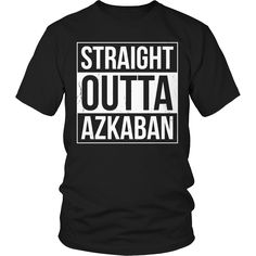 Limited Edition Harry Potter T-shirt Hoodie - Straight Outta Azkaban