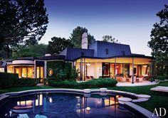 Traditional Pool by Donna Livingston in Beverly Hills, California
