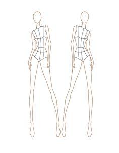 ファッションデザインの前と後の女性のテンプレート3b22aa58484a918b94fae554c540998c