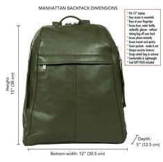 53b71288c Green Leather Backpack for Men, Travel Rucksack, Men's Travel Bag, Unisex  Laptop Bag, Gift for Him, Soft Olive Green Leather