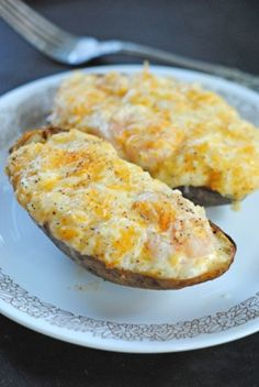 Shrimp-Stuffed Twice Baked Potatoes | Juanita's Cocina