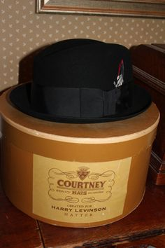 Mens Stetson Dress Hat NEW CONDITION Original Hat Box Black Size 7 1 8 80940474c7f7