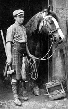 +~+~ Vintage Photograph ~+~+  Blacksmith in Pitlochry, Highland Perthshire, Scotland