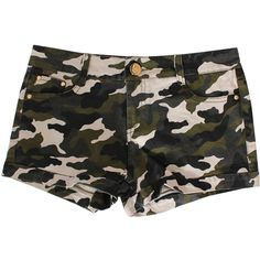Military Camo Shorts ($14) ❤ liked on Polyvore featuring shorts, chicnova, military style shorts, camo print shorts, camoflage shorts, camo shorts and camoflauge shorts