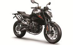 Download wallpapers 4k, KTM 790 Duke, superbikes, 2018 bikes, sportbikes, black 790 Duke, studio, KTM