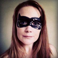 Cat woman make up mask