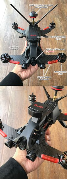 Built for racing - Fast and Furious It was a a great hit with the Runner 250R, it's a perfect beginner's choice to enter the world of FPV racing. Now the Runner 250R has evolved to the Runner 250 Pro, which has a new  flight controller, new GPS + GLONASS