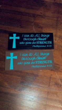 Bible Verse Sign. $20.00, via Etsy.