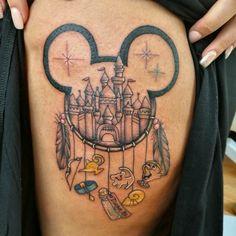 Disney themed dream catcher tattoo