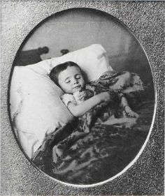 UNKNOWN PHOTOGRAPHER (American). Dead Child, c. 1850. Daguerreotype.  Collection Richard Rudisill, Santa Fe, N.M.
