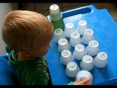 Sugestão de brincadeira para treinar ou ensinar números para crianças (2...