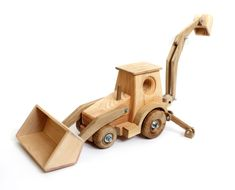Wood toy for boys Excavator educational model Wooden digger Organic toy Montessori learning toy for children Eco-friendly toy for kids Gift #woodentoys