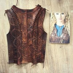 Back of #leather top of #season3 #Cosplay #Lagertha #vikings #costume done…