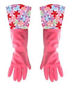 Look what I found on #zulily! Pink Utility Cuffed Gloves #zulilyfinds