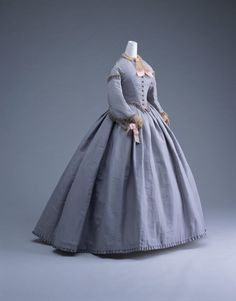 Day dress ca. 1865  From the Kyoto Costume Institute
