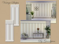 Guardgian's Vintage Striped Walls