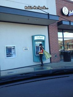 Dump A Day Funny Pictures Of The Day - 88 Pics. Robin the bank...ATM style