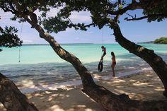 The most beautiful coloured water in the world. Barrier Beach House, Espiritu Santo, Vanuatu.