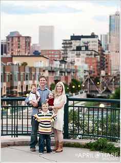 This is one of my favorite places to get a good photo with Downtown Denver skyline in the background.   - April O'Hare Photography http://www.apriloharephotography.com #Lodo #Lohi #Denver #DenverFamilyPhotos #RiverfrontPark #ConfluencePark #Denver #Colorado #ColoradoFamilyPhotos #SummerinDenver #FamilyPhotography