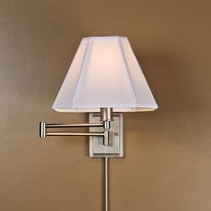 pewter-Rectangle Back Swing Arm Wall Lamp
