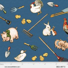 Paper Dolls Farm - Newcastle Fabrics. The pigs are so adorable!