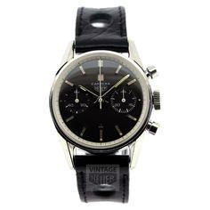 HEUER Carrera Black Dial Chrono - Vintage Heuer