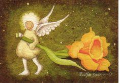 Katja Saario Elsa Beskow, Chalkboard Drawings, Illustration Art, Art Illustrations, Angel, Artist, Science, Inspired, Pictures
