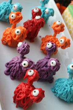"""i love this idea of a monster party, especially because when willow sees a monster she always says """"monsters not scary, monsters nice"""""""