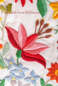 The Embroiderers' Guild has challenged all Branches to make a series of postcards to celebrate 'the' sporting event in August Our coun. Chain Stitch Embroidery, Learn Embroidery, Crewel Embroidery, Embroidery Patterns, Mexican Embroidery, Hungarian Embroidery, Stitch Head, Broderie Simple, Bordado Floral