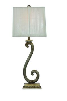 Stafford Antique Silver Transitional Table Lamp