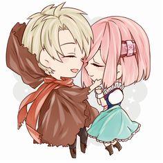 Koharu, Kakeru Yuiga #こはる #結賀駆 Anime Chibi, Kawaii Anime, Anime Art, Beautiful Disaster, Anime Characters, Fictional Characters, Anime Love, Anime Couples, Beautiful World