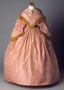 1850's gown worn by women of the planter class