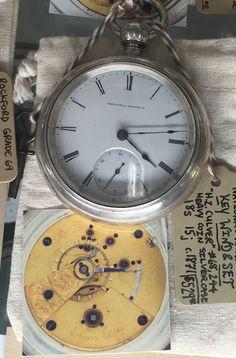 Very early (1871) National Watch Co pocket watch w key wind / set & heavy coin silver case! Showcase room, #GasLampAntiques $529 #Beautiful