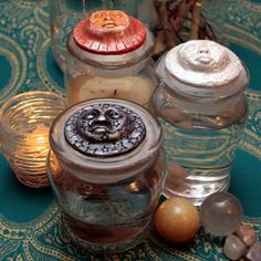 Celestial water charging vessels. water is used for cleansing crystals (dark moon, full moon and sunlight)