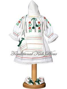 Romanian Traditional Baby Dress, Romanian Traditional Baptism Dress, Authentic Romanian Costume, Transylvanian Traditional Christening Wear