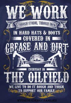 Re-post from Oilfield Families of America. Oilfield pride. #OilfieldLife #OilAndGas #Roughneck