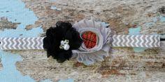 Spurs basketball baby headband Nets baby by AshlynsAccessoryCo