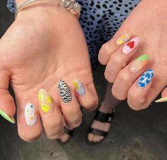 Nail Design Stiletto, Nail Design Glitter, Summer Acrylic Nails, Best Acrylic Nails, Stylish Nails, Trendy Nails, Nail Art Cute, Acryl Nails, Minimalist Nails