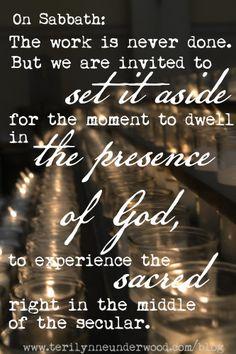 sabbath thoughts || www.terilynneunderwood.com/blog