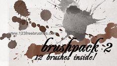 Ink Splatter - Download  Photoshop brush http://www.123freebrushes.com/ink-splatter-21/ , Published in #GrungeSplatter. More Free Grunge & Splatter Brushes, http://www.123freebrushes.com/free-brushes/grunge-splatter/ | #123freebrushes