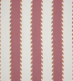 This gently coloured wide stripe comes in a variety of versatile colourways. The embroidered ikat edging detail gives this stripe a modern graphic feel. Wide Stripes, Fabric Wallpaper, Color Of The Year, Pantone Color, Pattern Books, Marsala, Churchill, Design, Fabrics