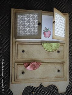 Antique dresser card